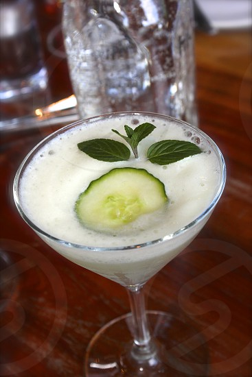 Cucumber martini photo