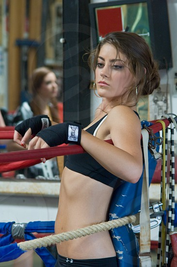 sports workout fitness training boxing sweat health exercise model fashion editorial female woman photo