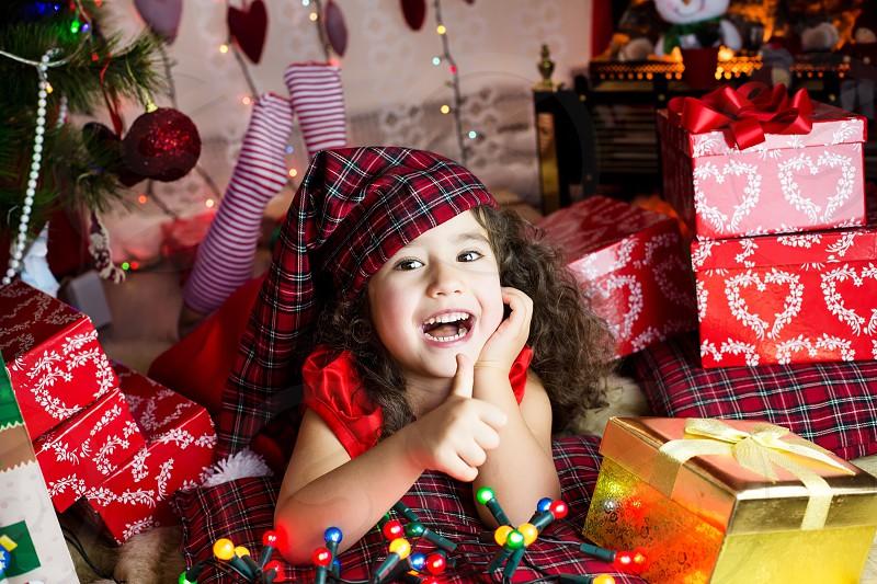 Merry Christmas happy new year joy baby kid photo