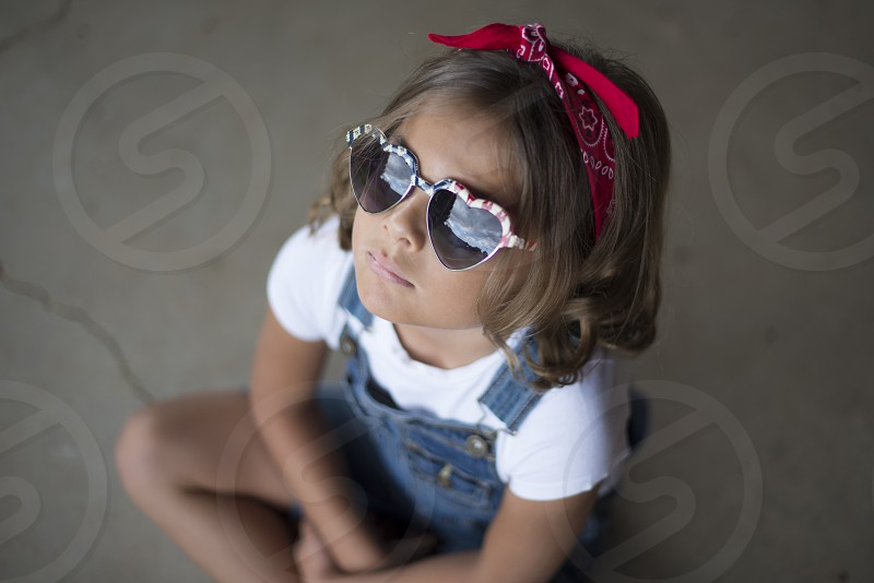 heart patriot girl sun summer photo