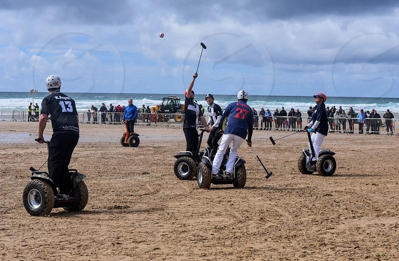 Segway polo players Beach photo