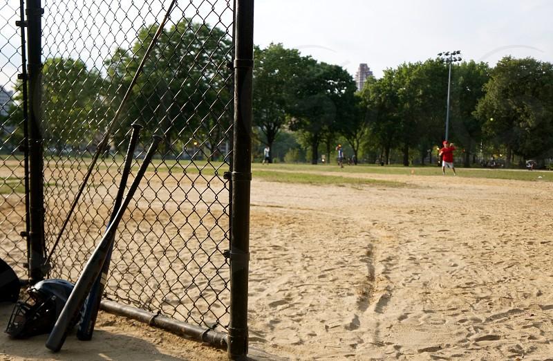 man playing catch photo