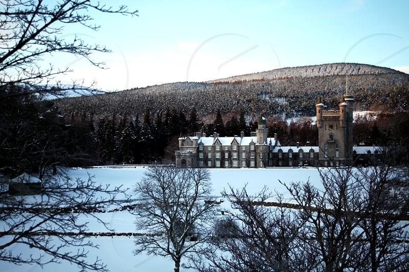 Balmoral Castle Scotland Snow photo