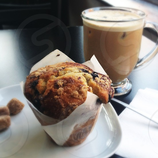 baked muffin in white paper photo