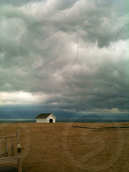 Approaching storm in Montauk photo