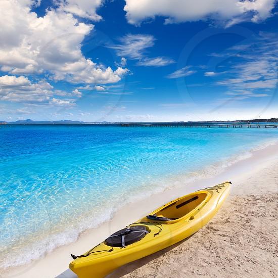Mallorca Platja de Alcudia beach in Majorca Balearic islands photo