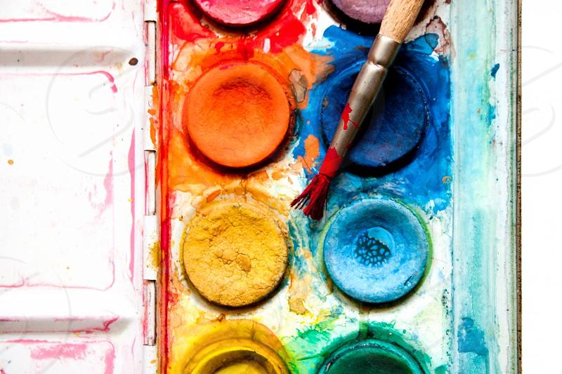 water colors creativity painting paintbrush photo
