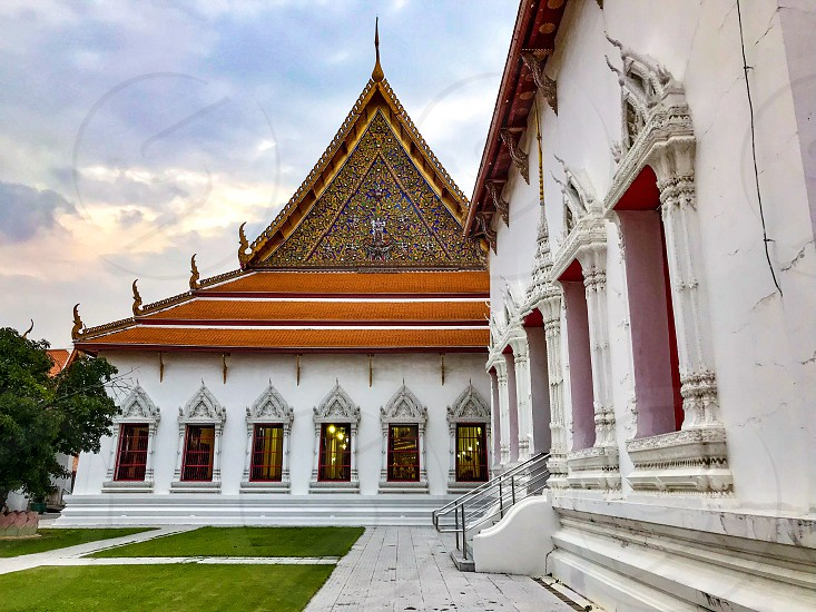 Wat Mahathat Yuwaratrangsarit one of the 10 royal Buddhist temples of the highest class in Bangkok Thailand built during Ayutthaya period also served as Mahachulalongkornrajavidyalaya University Thailand's oldest higher education institute for Buddhist monks photo