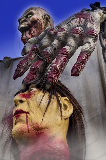 Monster headless blood scary Halloween yard art zombie creepy skull photo