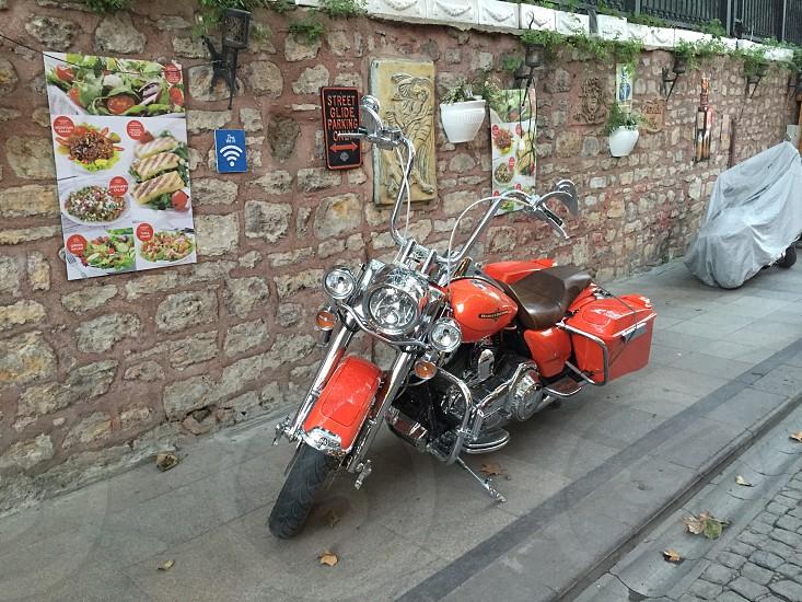 Harley Davidson Orange photo