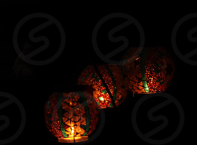 orange lantern photo