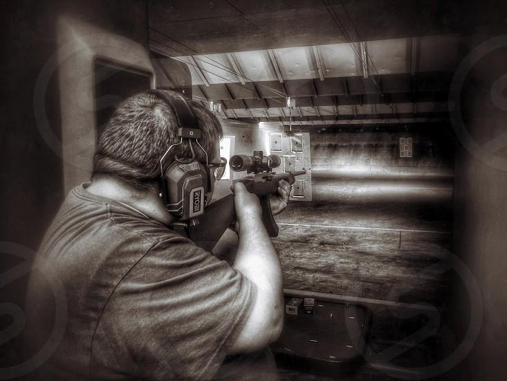 Gun shooting ammo range photo