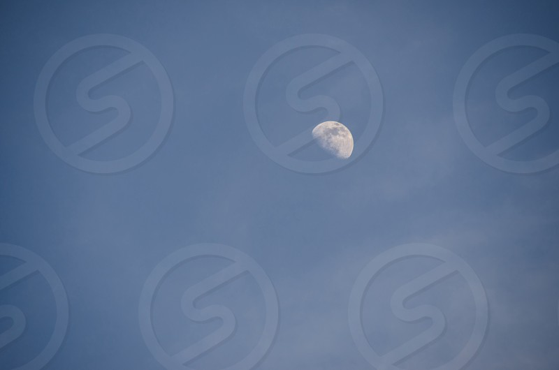 Negative Space moon sky natural open  photo