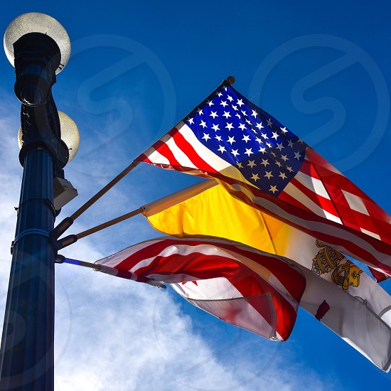 Vatican flag. American flag. DC flag. Pope Francis. Pope. Popeindc. photo