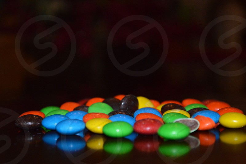 assorted colors of chocolate candies photo