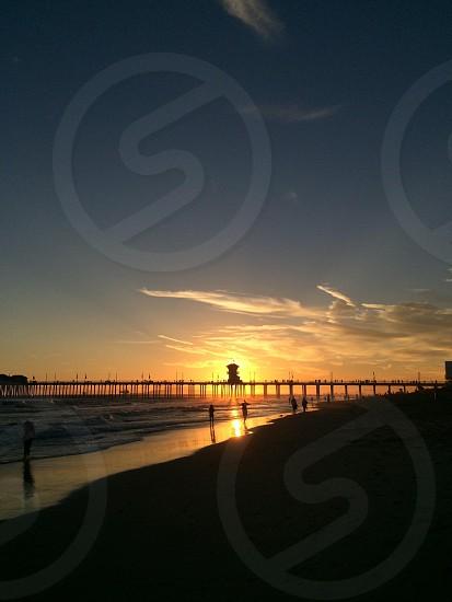 SoCal sunset. Huntington. photo