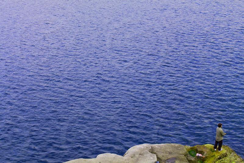 Lone fisherman. photo