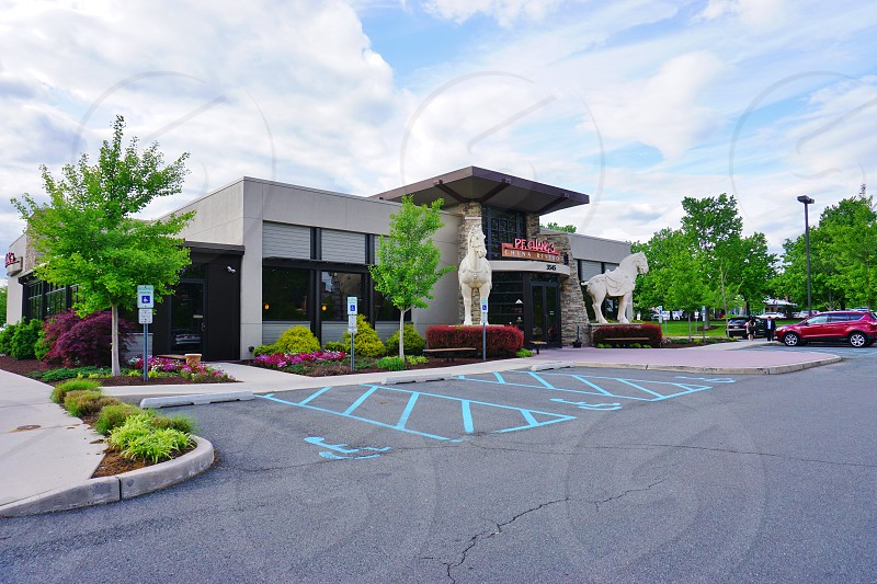 Exterior view of PF Chang's restaurant in the MarketFair Mall in Princeton (West Windsor) New Jersey photo