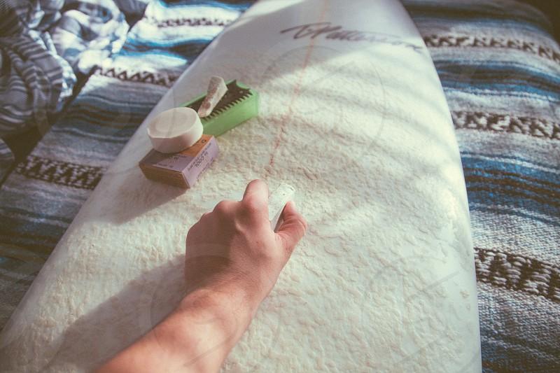 white surfing board photo