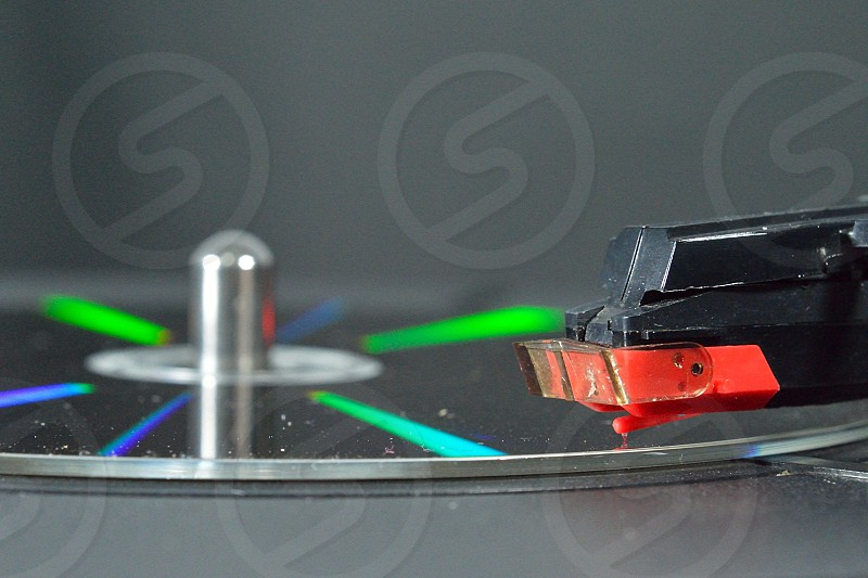 close up photo of turntable photo