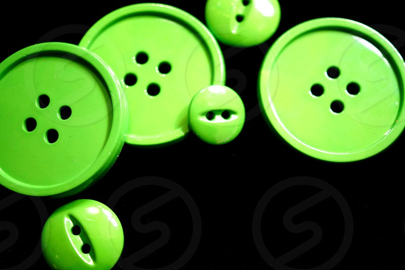 Green Buttons  photo