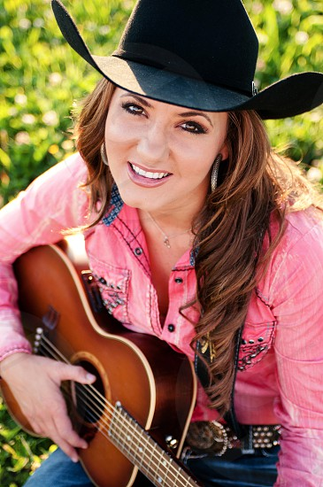 girl music smilecountry cowboy hat photo