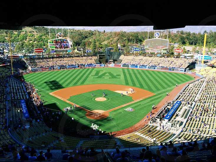 Opening series between the Dodgers and Giants in LA. photo