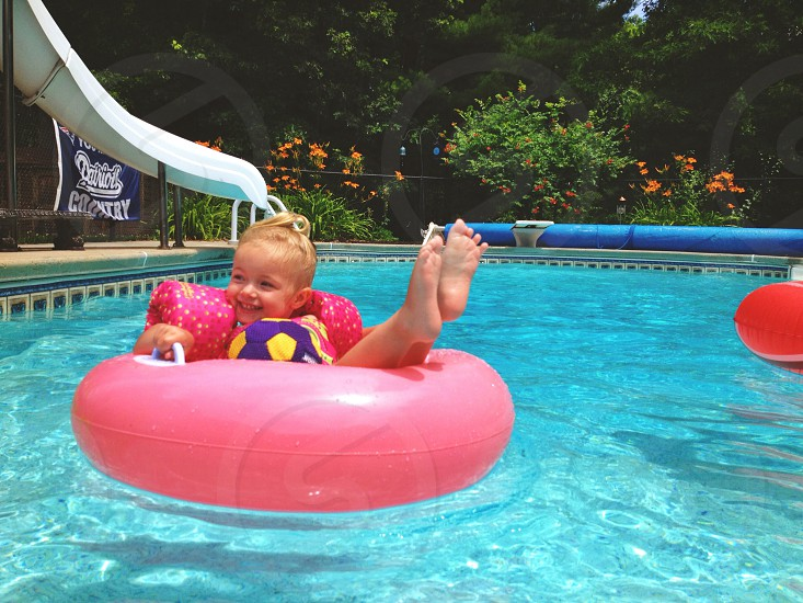 Pool party baby photo
