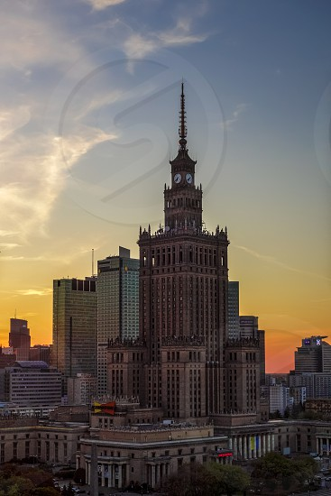 Palace of Culture and Science in Warsaw Poland photo