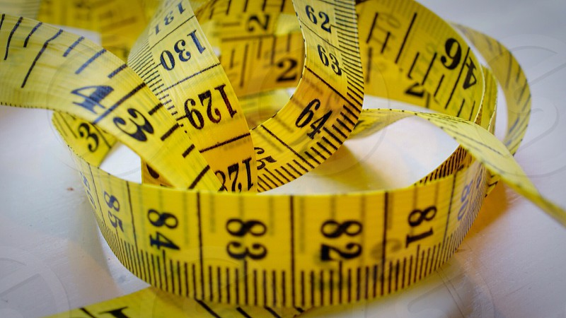 yellow tape measure photo