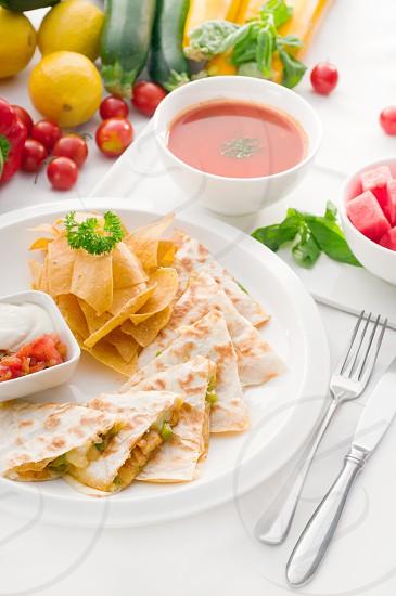 Mexican chicken quesadilla photo