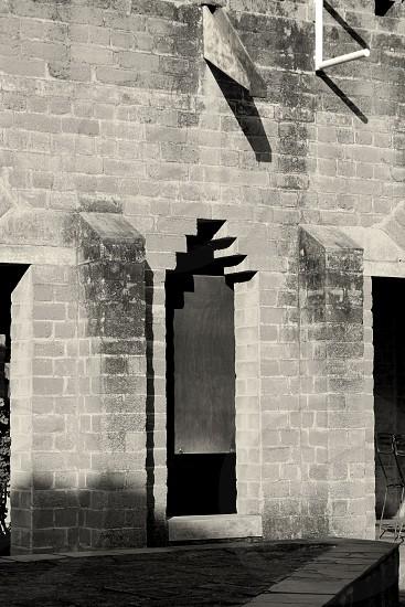 Bricks and voids. Architecture. photo