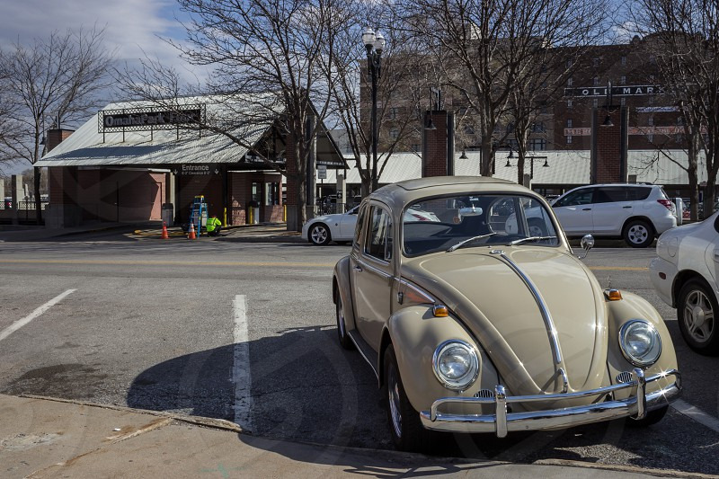 Beetle old vintage car Omaha Old Town.  photo