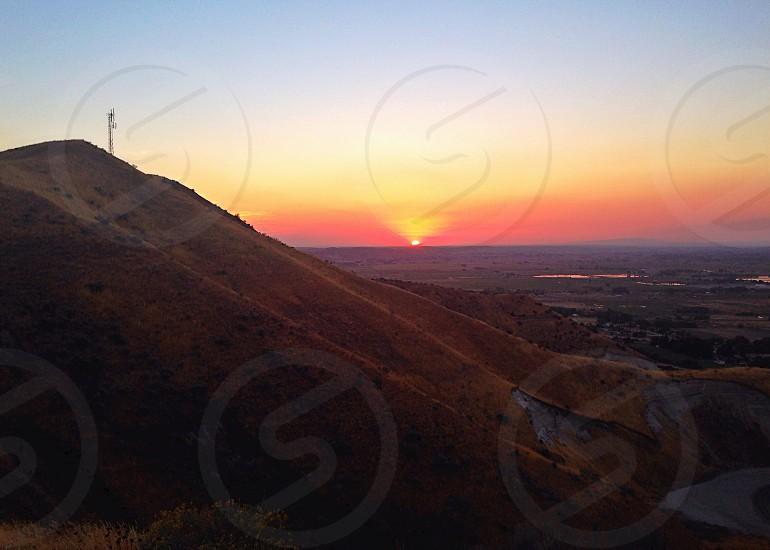 Sunset. Landscape Mountains Vista photo