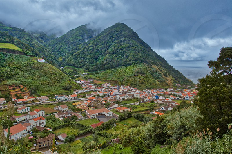 Faial of the island island are miguel azores photo