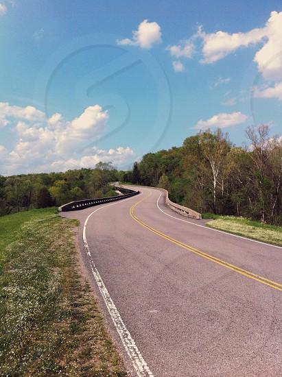 gray cement road photo