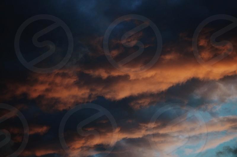 sunset clouds sky  photo