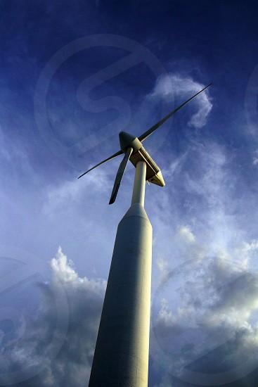 white concrete windmill photo
