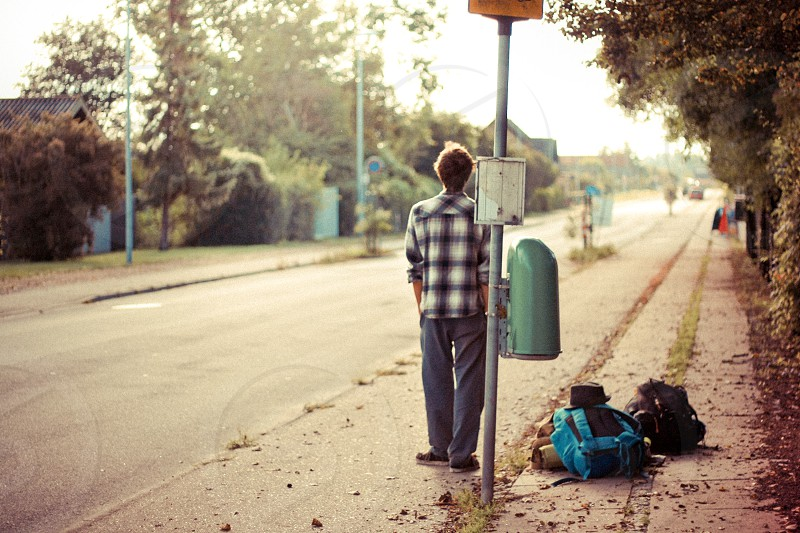 Waiting for a bus in Danmark countryside.. photo