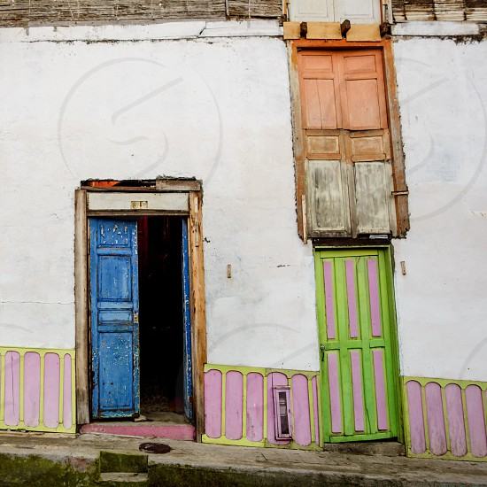Colourful doors in Jerico Colombia photo