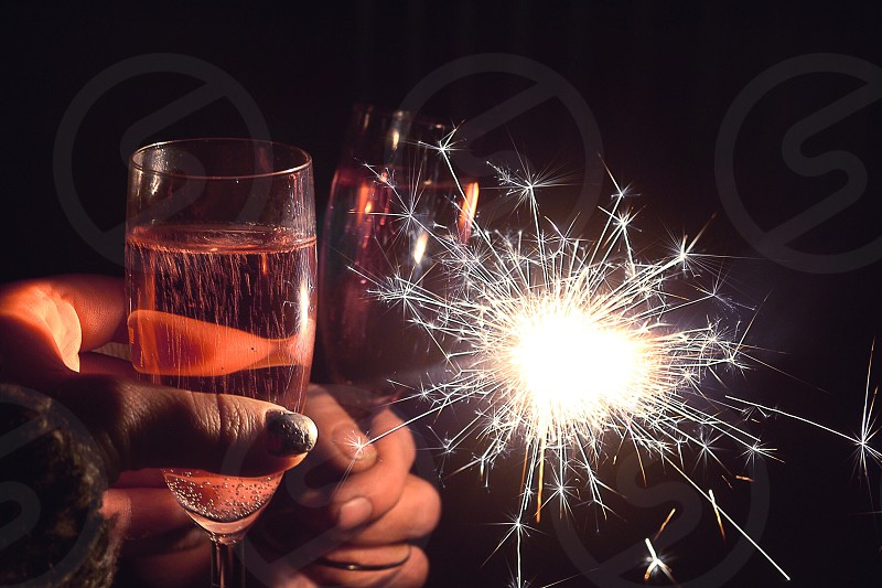 New Year toast photo