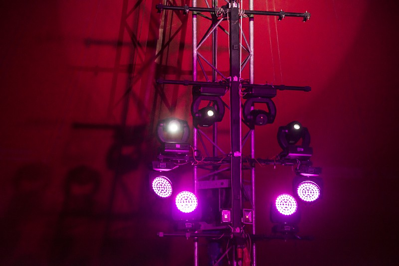 Lights on the stage in circus photo