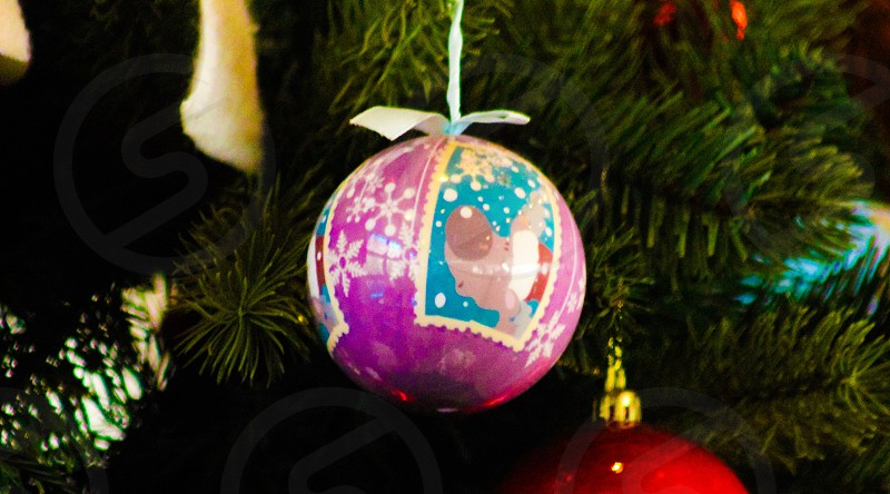 A pink Christmas Ornament. photo