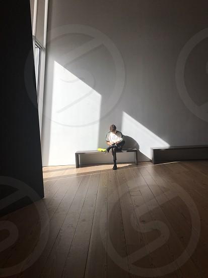 Modern art museum light  photo