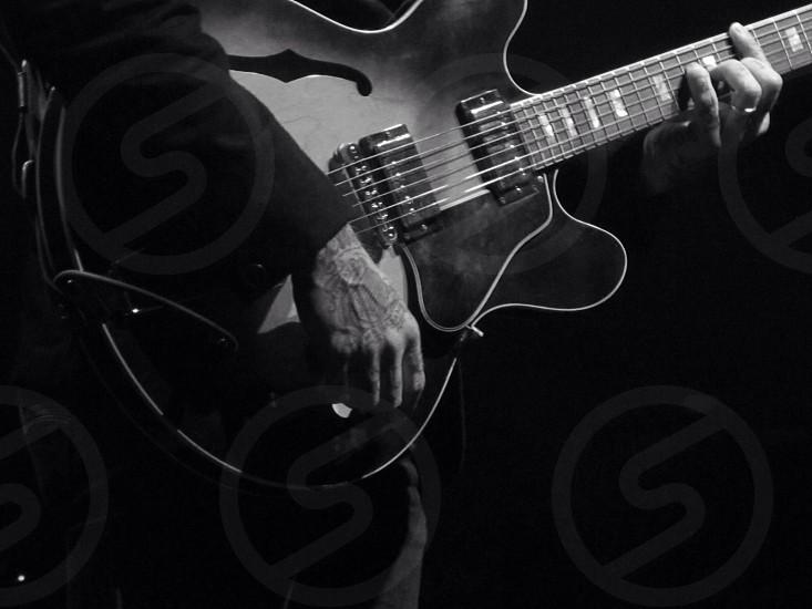 black electric guitar photo