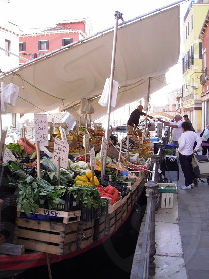Market Boat Venice Italy photo