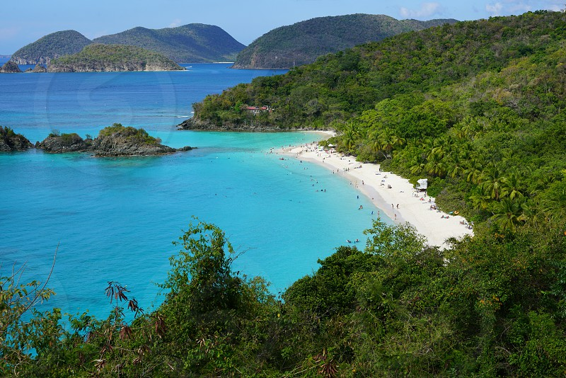 Trunk Bay in the Virgin Islands National Park in St John USVI photo