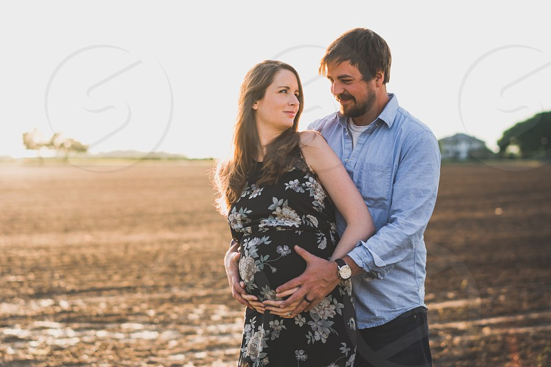 Maternity pregnancy couple belly photo