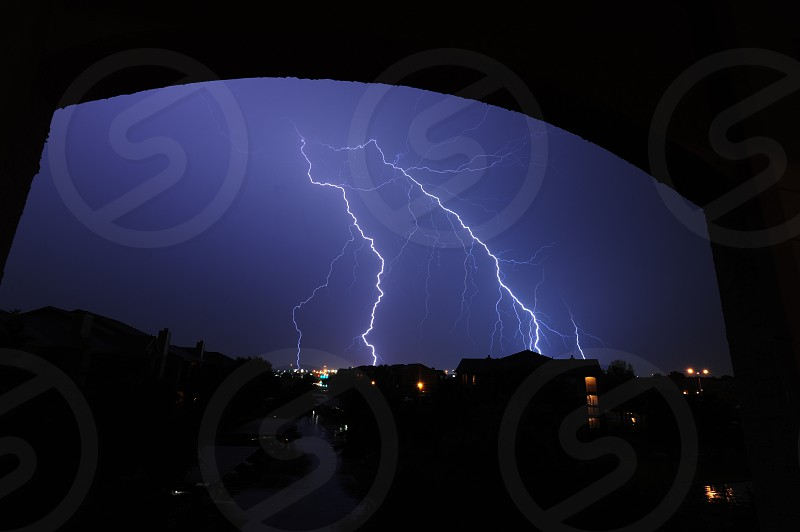 THE HOWLING WOLF Dual lightning strike in Fort worth photo