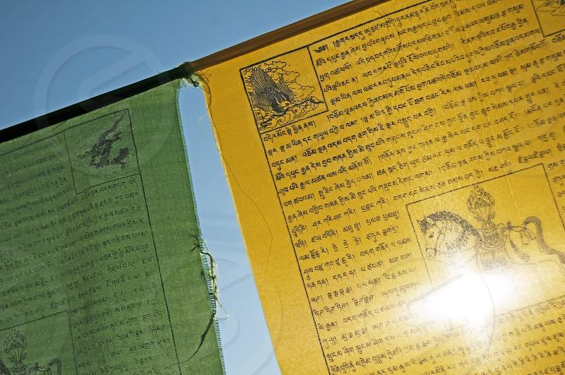 Tibetain prayer flags photo